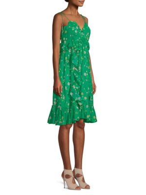 The Kooples Dresses Silk Floral Shoulder Tie Dress