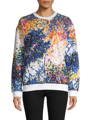 Mary Katrantzou T-shirts Printed Cotton Sweatshirt
