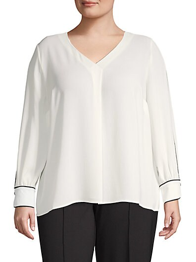 d4d3726a80aaa2 Vince Camuto Plus Long-Sleeve Blouse ...
