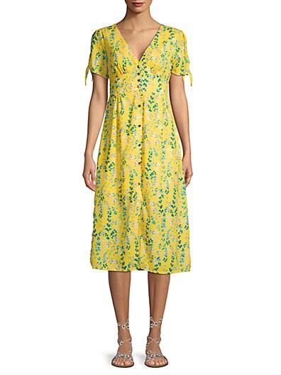 9994c60b2ee Lea   Viola Floral Button-Front Midi Dress ...