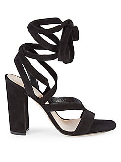 80176b7fb00 QUICK VIEW. Gianvito Rossi. Janis Strappy Suede Heeled Sandals