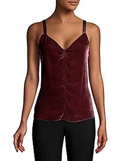 dce2dd42d46c24 Velvet Camisole Top BORDEAUX. QUICK VIEW. Product image. QUICK VIEW. Rebecca  Taylor