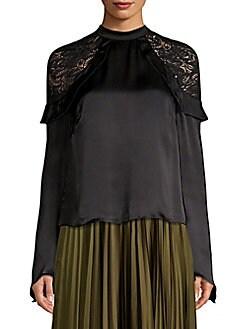 c956717966cb1 Ella Silk-Blend Top BLACK. QUICK VIEW. Product image