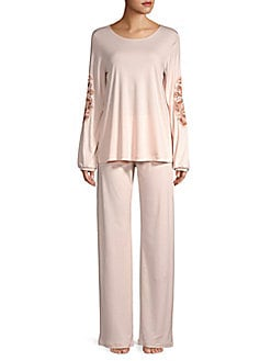 62437ce6672 Product image. QUICK VIEW. Hanro. Jana Long Sleeve Embroidered Pajamas