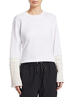151d25abaf275 Product image. QUICK VIEW. 3.1 Phillip Lim. Cotton Pleated Cuffs Tee