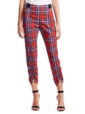 Tanya Taylor Pants Carrington Plaid Cropped Pants