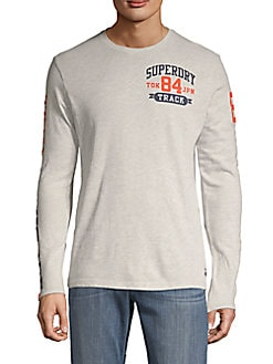 a23a37a743c9fb QUICK VIEW. Superdry. Logo Long-Sleeve Cotton Blend Tee