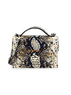 92feb31efe3 Product image. QUICK VIEW. Valentino by Mario Valentino. Titti  Python-Embossed Leather Crossbody Bag