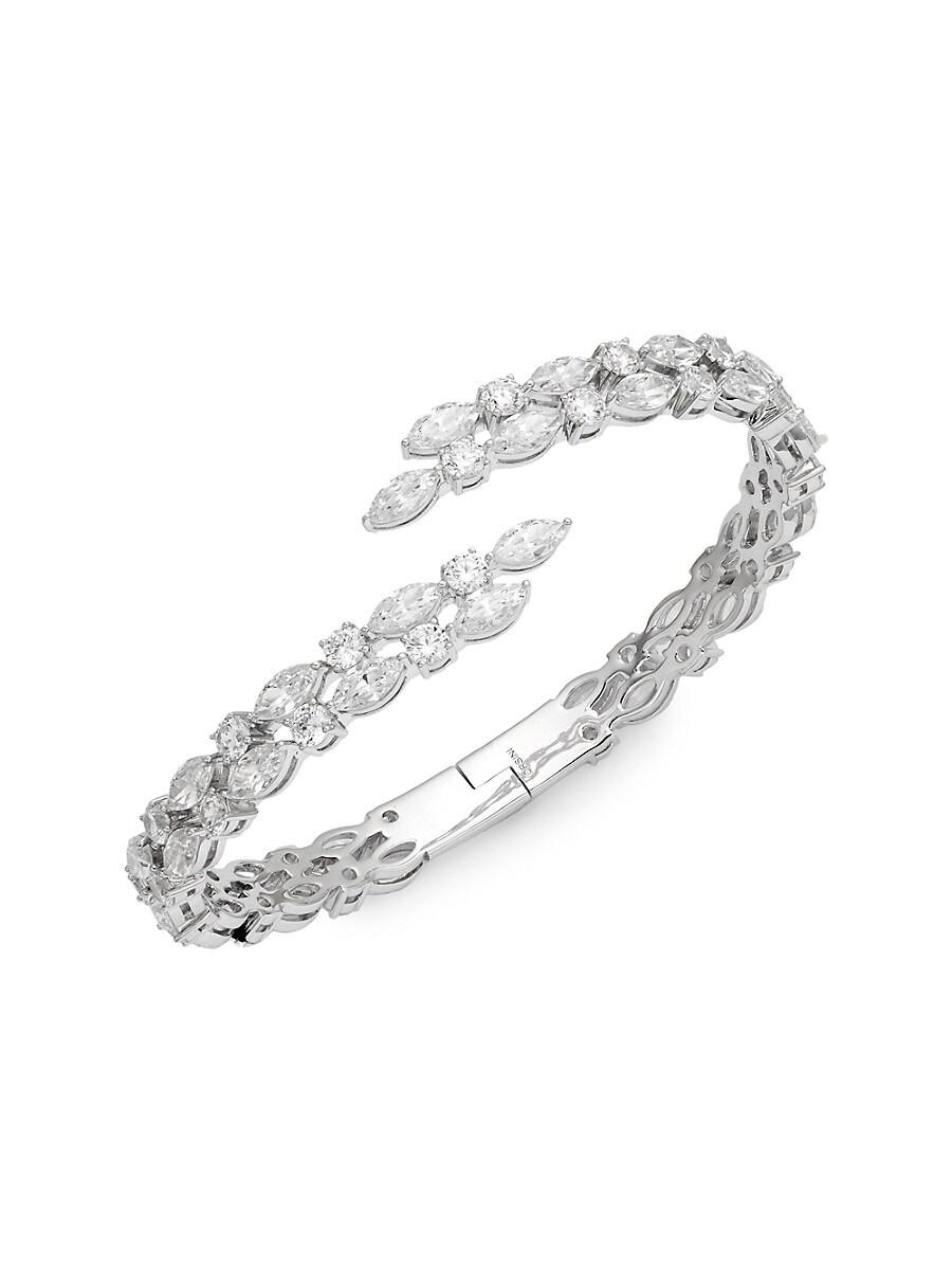 Women's Silvertone & Crystal Cuff Bracelet