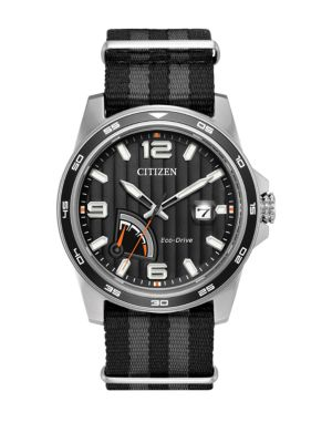 Citizen Watches PRT Eco-Drive Stainless Steel Analog Strap Watch