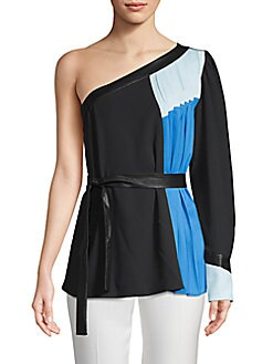 738d56d746b577 QUICK VIEW. BCBGMAXAZRIA. Colorblock Pleated Top