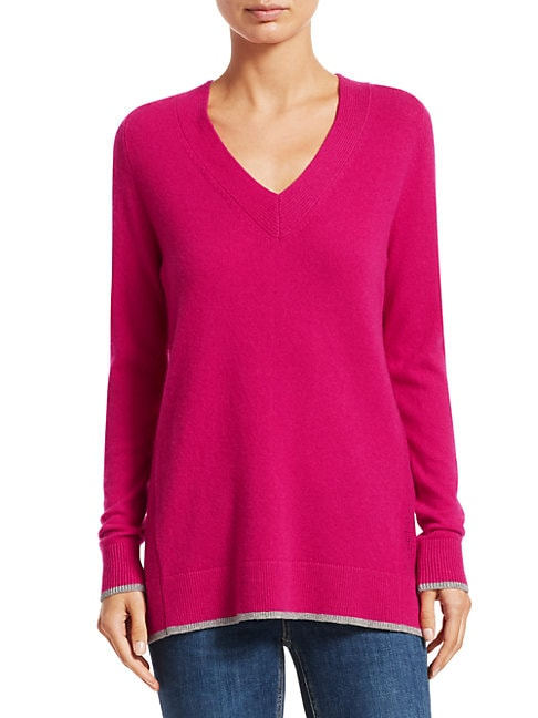 RAG & BONE | Yorke Cashmere V-Neck Sweater | Goxip