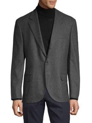 Brunello Cucinelli Coats Standard-Fit Wool, Silk & Cashmere-Blend Sportcoat