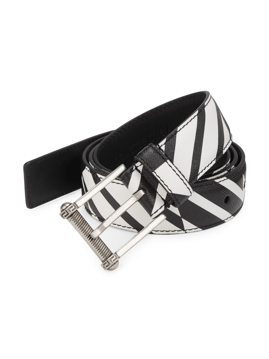 Versace Collection Classic Saffiano Leather Belt