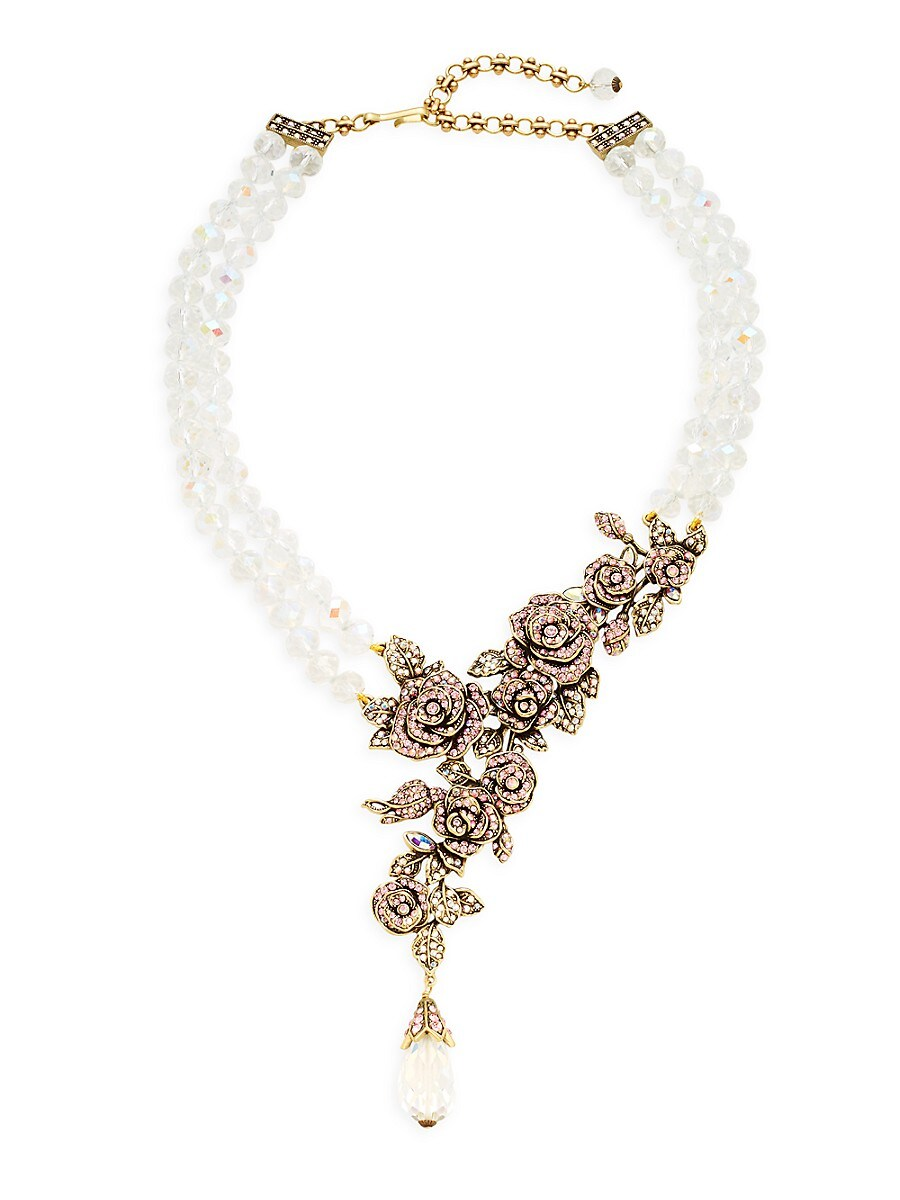 Women's Crystal Rose Necklace