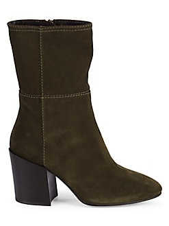 14f6aad70e3f Fabriana Suede Stitched Booties GREY. QUICK VIEW. Product image