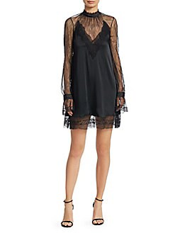 c002ab69dce Satin and Lace Mini Dress BLACK. QUICK VIEW. Product image. QUICK VIEW. Jonathan  Simkhai