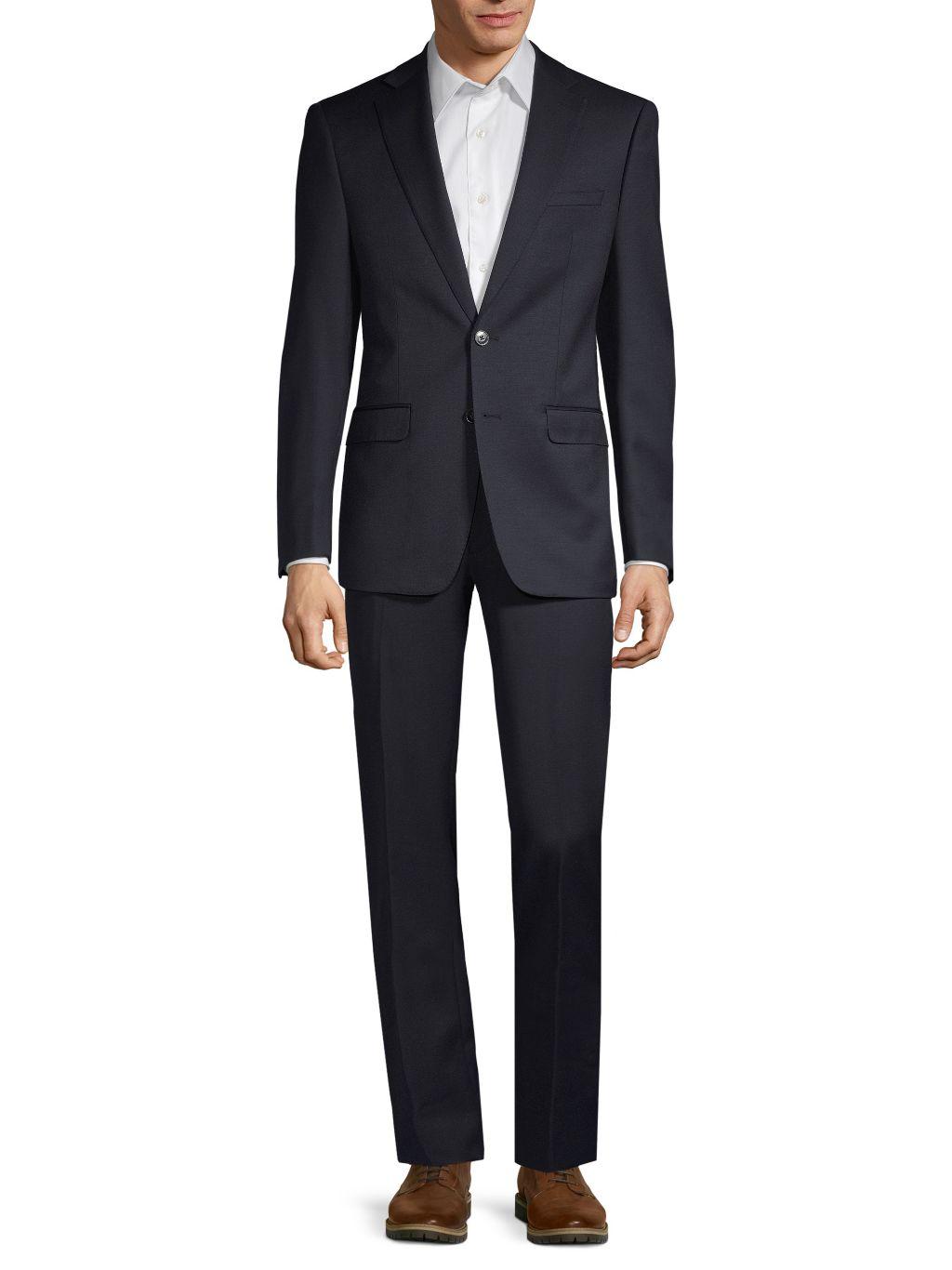 Calvin Klein Slim-Fit Two-Piece Textured Wool Suit