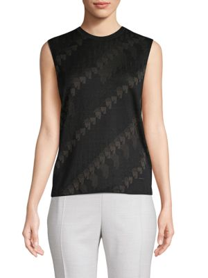 Akris Knits Printed Silk-Blend Knit Tank
