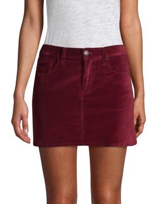 Hudson Skirts Viper Velvet Mini Skirt