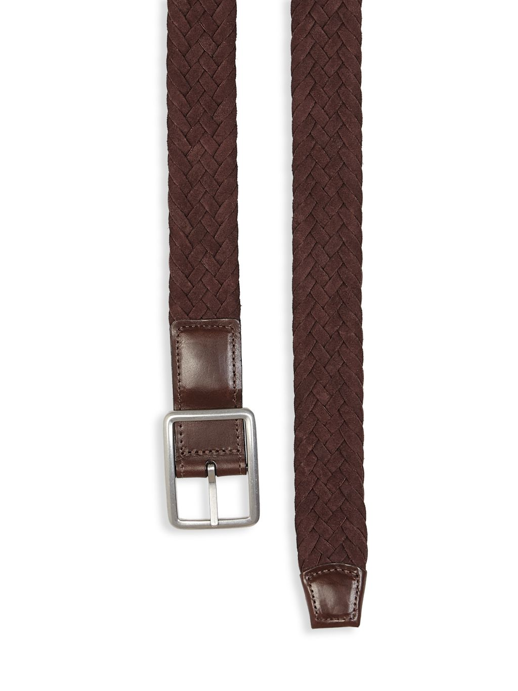 Saks Fifth Avenue COLLECTION Braided Reversible Buckle Suede Belt