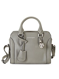 9a4cb33fee1 Product image. QUICK VIEW. Alexander McQueen. Mini Padlock Leather Satchel