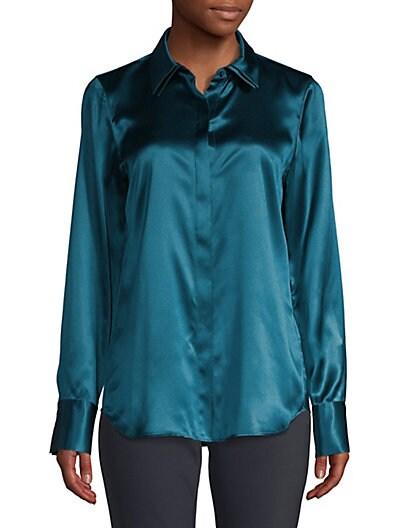 f066a7a228 Lafayette 148 New York Semira Silk Blouse ...
