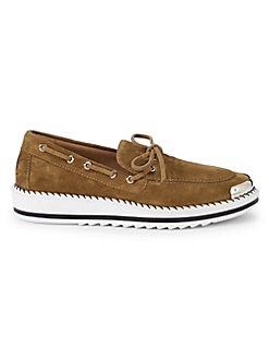 90e26a71590 Whipstitched Suede Leather Boat Shoes TAN. QUICK VIEW. Product image