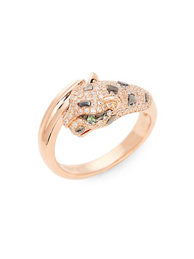 63f0615e6 Effy 14K Rose Gold, Tsavorite & Diamond Band Ring ...
