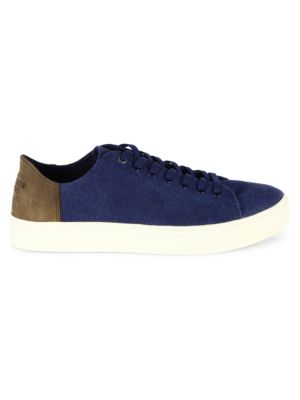 Toms Lenox Canvas & Suede Sneakers In Washed Navy