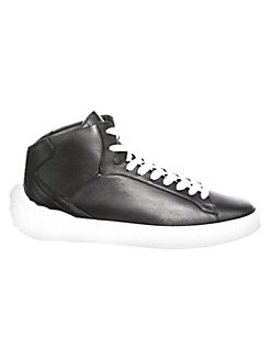 48c422c6dac6a QUICK VIEW. Versace. Medusa Mid-Top Leather Sneakers