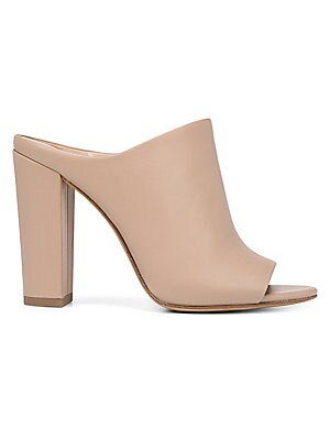 Aloral Heeled Leather Mules by Vince