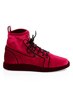 af7a90cea5b Product image. QUICK VIEW. Giuseppe Zanotti. Velvet High-Top Runners.   795.00  399.99. (49% Off) · Mid Runner Perforated Sneakers BLACK
