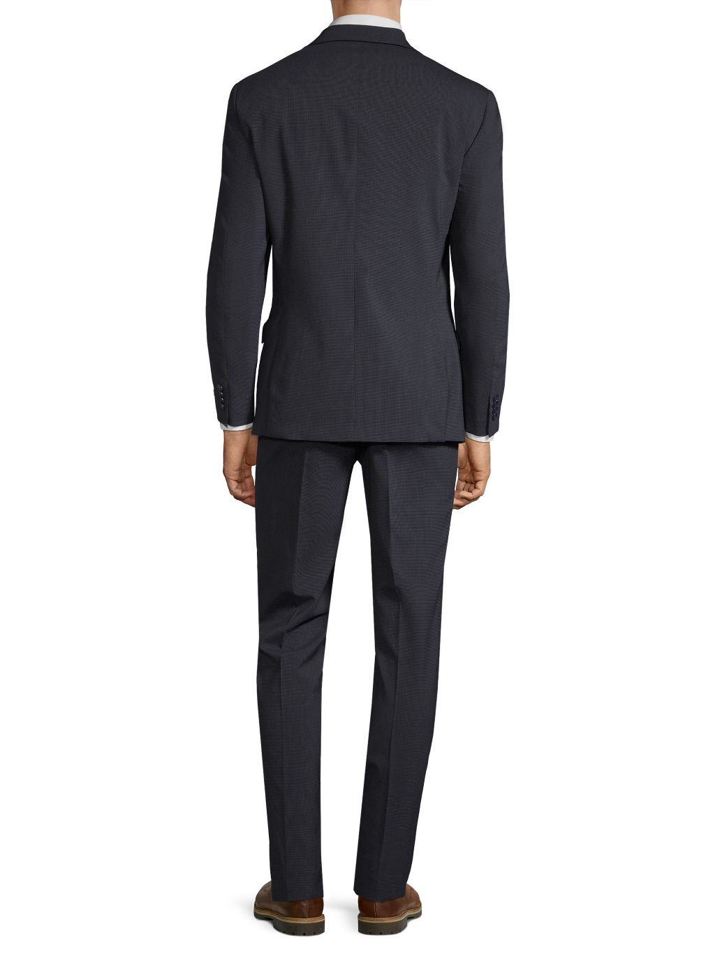 Michael Kors Collection Standard-Fit Micro-Check Stretch Wool Suit