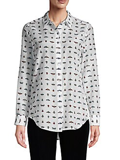 26469eb616ab4 Insect Print Silk Blouse WHITE MULTI. QUICK VIEW. Product image. QUICK  VIEW. Equipment