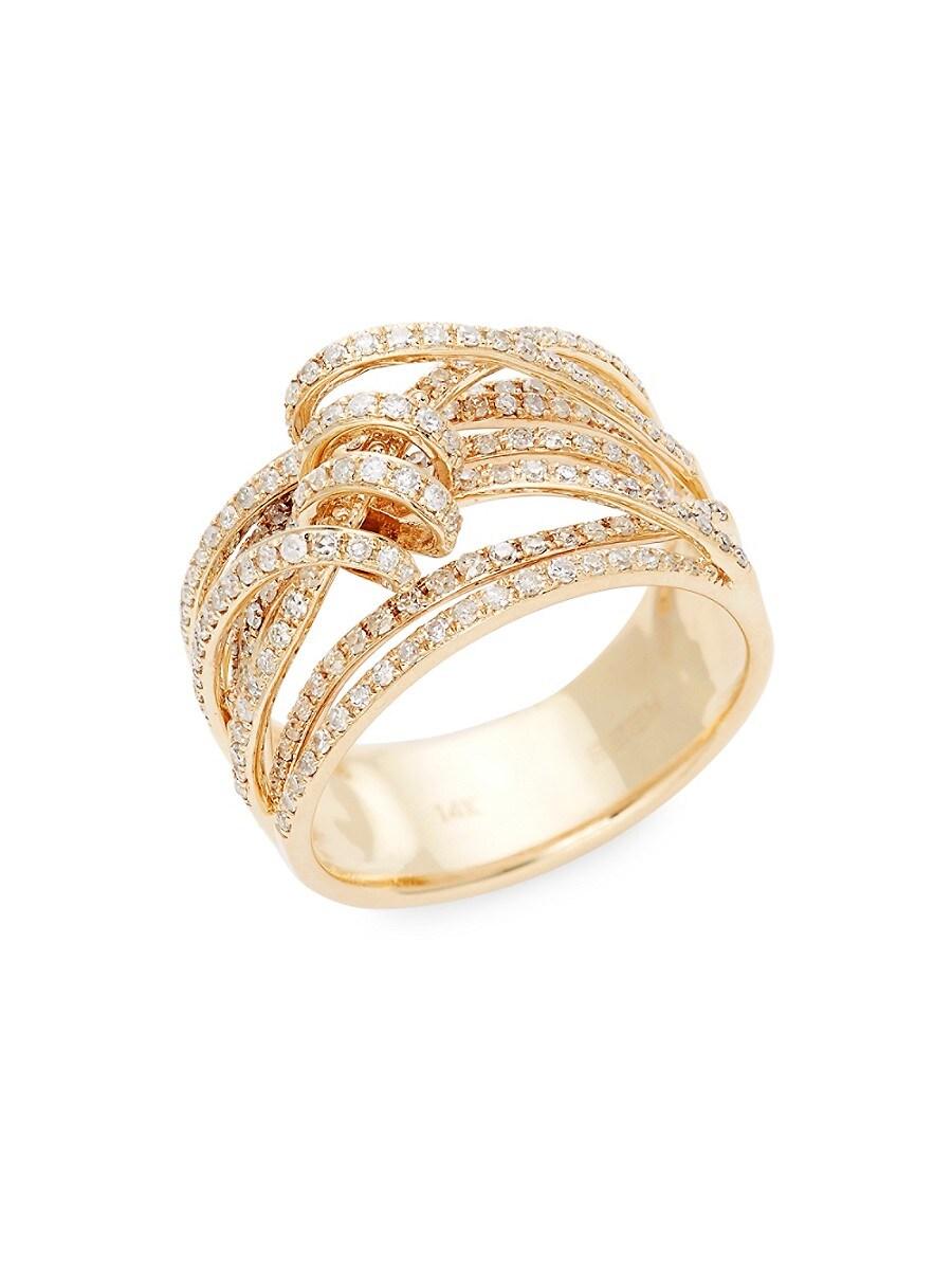 Women's 14K Yellow Gold & Diamond Ring