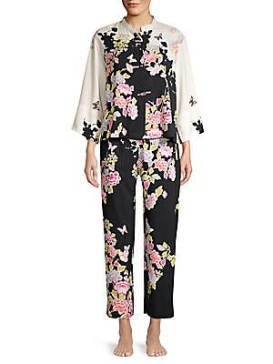 Gardenia Mandarin Collar Pajama Set by Natori