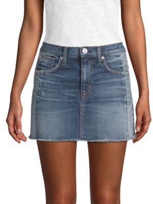 Hudson Skirts Denim Mini Skirt