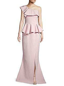 5a1d97c0 Product image. QUICK VIEW. Chiara Boni La Petite Robe. One-Shoulder Peplum  Gown