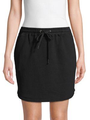 Splendid Skirts Drawstring Cotton Mini Skirt