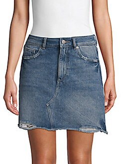 Clothes, Shoes & Accessories 2019 Latest Design Light Pink Denim Mini Skirt A-line Destroyed Jeans Organic Cotton Medium 50%off Clients First
