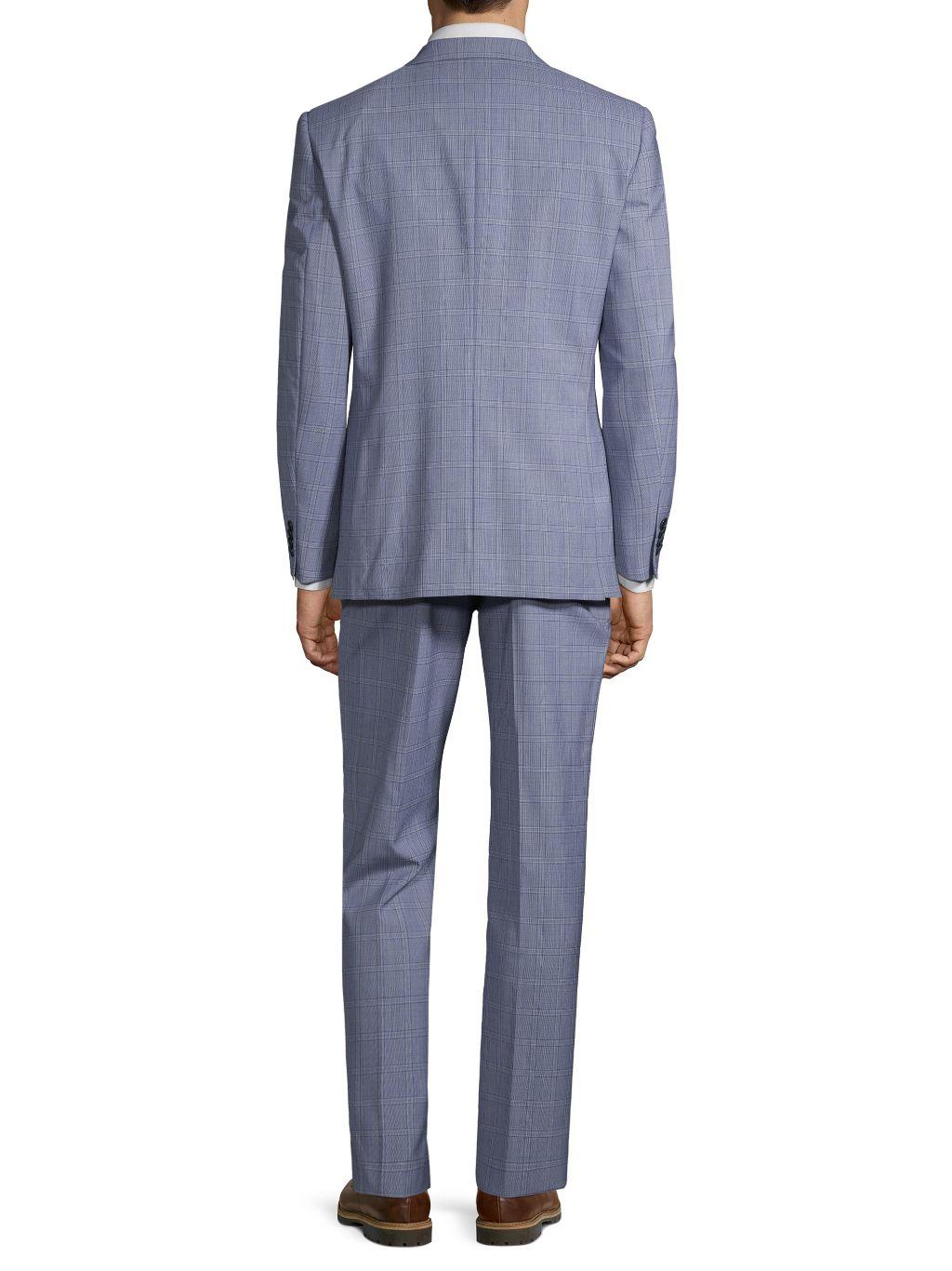 Vince Camuto Slim Stretch Plaid Suit