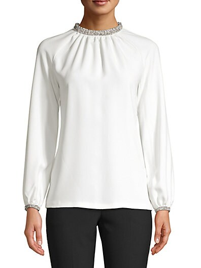 4d48e3b33b7 Trina Turk Cocktail Soiree Vodka Embellished-Trim Blouse ...