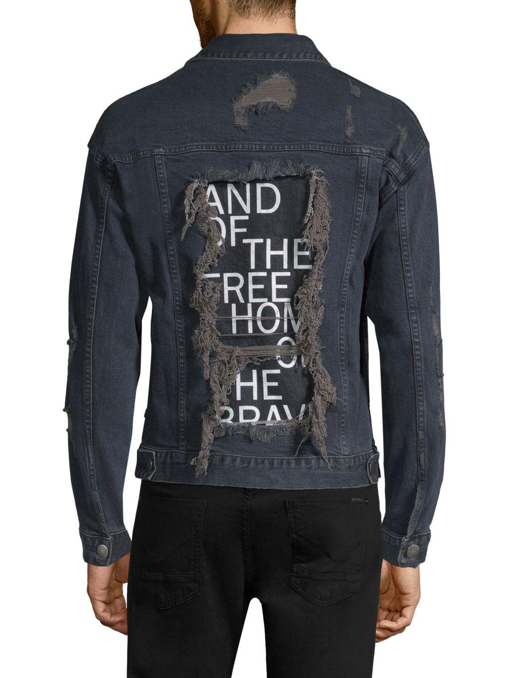 Dim Mak Obex Distressed Denim Jacket