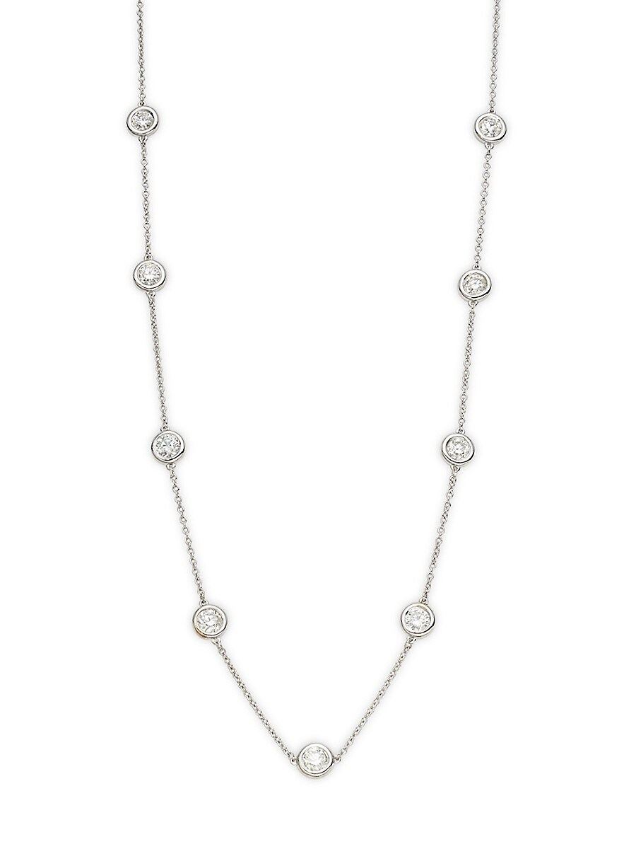 Women's 14K White Gold & 2.25 TCW Diamond Station Necklace