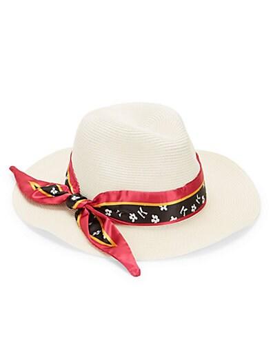 a1a166153ab Karl Lagerfeld Paris Printed Bow Panama Hat ...