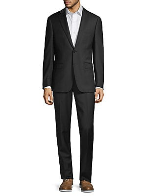 2 Piece Extra Slim Fit Wool Suit by Calvin Klein