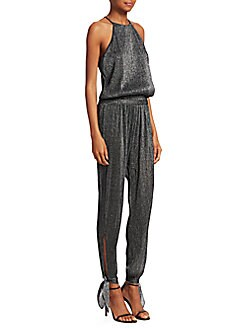 44899caa5e0 Product image. QUICK VIEW. Halston Heritage. Sleeveless High Neck Jumpsuit