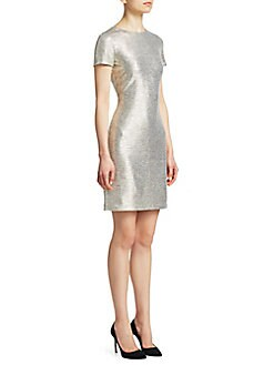 ed302cd9055 QUICK VIEW. Alice + Olivia. Delora Metallic Sheath Dress
