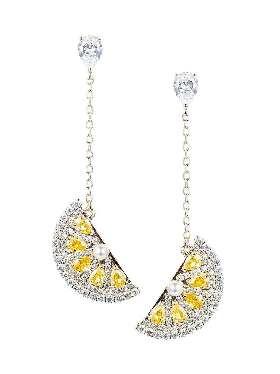 Women's Crystal Lemon Drop Linear Earrings